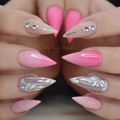 Pinkies  Scroll through for more pics  @gfa_australia Gel polish  @uglyducklingnailsaustralia / @uglyducklingnails Matte top/acrylic  @glitter_heaven_australia Snow White ✨ @oceannailsupply Holo pigment