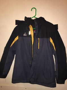 Boys Winter Jacket With Removable Hood, Gerry's 3 in 1, 14/16    eBay