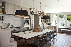 We love the marble in Gwyneth Paltrow and Chris Martin's new LA kitchen.