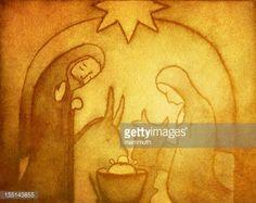 Stock Illustration : Nativity Scene