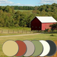 Inspired by the warm and bright colors of a classic red barn in a golden field…