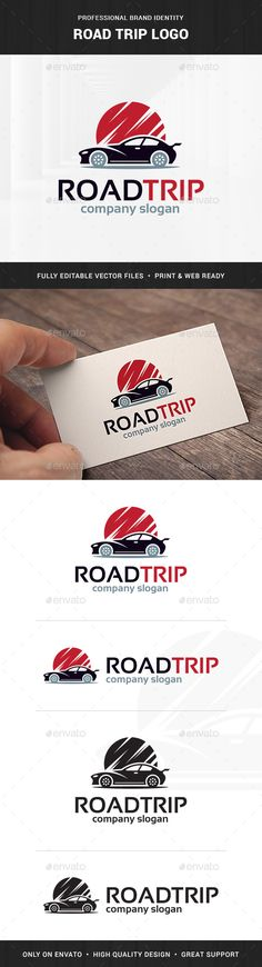 Road Trip Logo Template — Transparent PNG #fast #classic • Available here → https://graphicriver.net/item/road-trip-logo-template/16573448?ref=pxcr