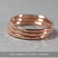 Hammered Copper Ring Handmade