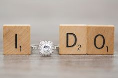 Scrabble lovers, this engagement announcement photo idea is so cute and so easy to DIY.