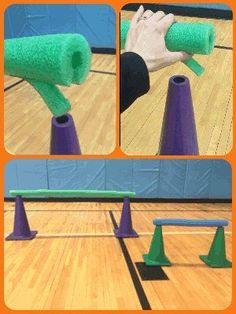 Image result for hurdles with foam noodles in Physical education