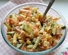 VK is the largest European social network with more than 100 million active users. Top Salad Recipe, Salad Recipes, Slow Cooker Recipes, Cooking Recipes, Healthy Recipes, Cook At Home, Russian Recipes, International Recipes, Food Photo