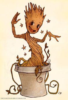 Baby Groot by MadLibbs on deviantART