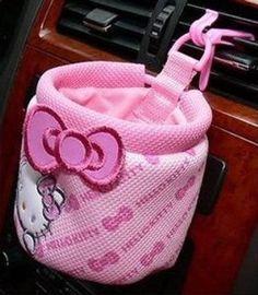 Hello Kitty Car Glove Barrel Set