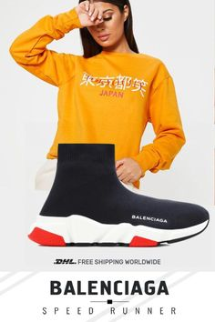 Rare model  Balenciaga  Speed  Trainers Mid Black White Red #sneakers #fashion #shoes #sport #men #woman #style Red Sneakers, Sneakers Fashion, Fashion Shoes, Speed Runners, Balenciaga Speed Trainer, Shoes Sport, Woman Style, Black White Red, Jordan 3