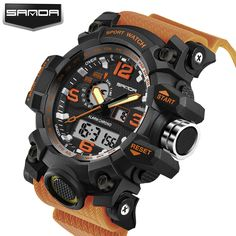 SANDA Brand Waterproof Fashion Watch Men Quartz Analog Dual Display WristWatch Digital LED Clock Military Watch Relogio homme //Price: $US $12.30 & FREE Shipping // #hashtag4