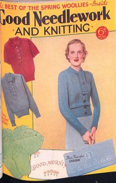 Free Vintage Pattern Sweater 30sSpring Woolies