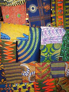 Africa |Fabrics on sale at a Mali Market