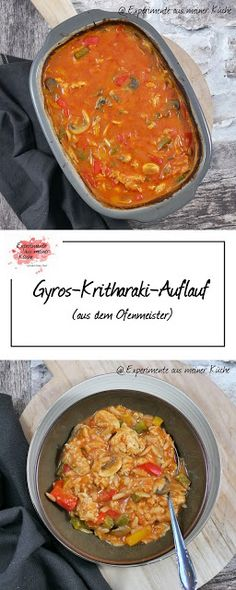 Gyros-Kritharaki-Auflauf - My list of the most healthy food recipes Easy Chicken Recipes, Healthy Chicken Recipes, Easy Healthy Recipes, Quick Easy Meals, Crockpot Recipes, Clean Eating Soup, Orzo, Casserole Recipes, Cooking