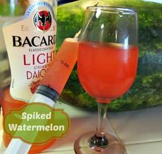 Spiked Watermelon with BACARDI Classic Cocktails Light #BacardiClassicCocktails $500 Giveaway