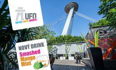 Vyhliadka z UFO a drink na Pláži pod UFOm - v ponuke chutná Novinka!Smashed Mango Mint 0,25 l