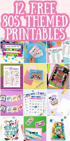 Need some 80s party decorations? Well, print some for free here and throw an 80s themed party on a budget! #80sparty #freeprintable #partyprintables 80s Party Decorations, Party Themes, Party Printables, Free Printables, Free Printable Banner, 80s Theme, Party Entertainment, Country Chic, Graffiti