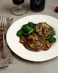 Steak Diane -  Supposedly named for Diana, the Roman goddess of the hunt, Diane-style was originally a way of cooking venison. Through the years, though, the preparation has come to mean sautéing thinly sliced or pounded filet mignon in butter and then flambéing and basting it in a rich Cognac sauce.