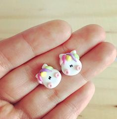 Fimo Kawaii, Polymer Clay Kawaii, Polymer Clay Dolls, Polymer Clay Miniatures, Polymer Clay Projects, Polymer Clay Charms, Polymer Clay Creations, Polymer Clay Earrings, Clay Crafts