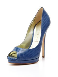 Peep-Toe Snake Pump