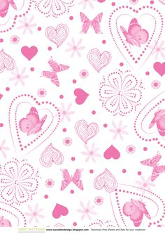 Set di Carte Scrap: SWEET BUTTERFLIES (scrap paper set) by sweetbiodesign.blogspot.it