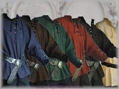 Medieval Shirt Laced Up Pirate Reenactment SCA Renaissance Landlord Knight | eBay