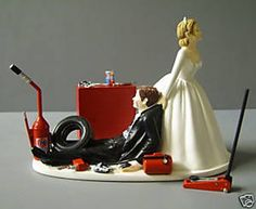 Wedding Cake Topper~ Don't forget personalized napkins with a racing theme! #race #wedding Love wins it all!!! www.napkinspersonalized.com                                                                                                                                                     More