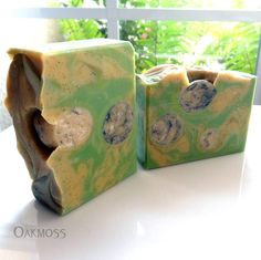 Oakmoss Soap for Men with honey and silk - masculine scent - cold process - handmade by Bonny Bubbles