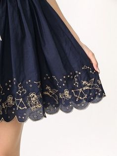 ☼ Cosmic Couture ☽ Celestial Costumes ☼ zodiac hemline trim, skirt, and stars image