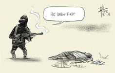 28 hommages de dessinateurs à Charlie Hebo - http://www.2tout2rien.fr/28-hommages-de-dessinateurs-a-charlie-hebo/