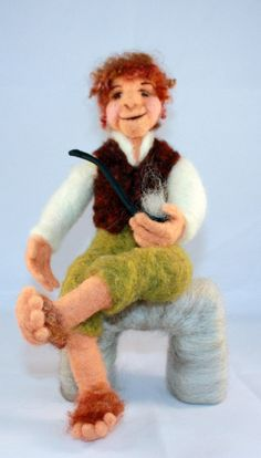 Bilbo Baggins,Felt Hobbit by susio...there's those Hobbit feet that drive Anderson crazy!