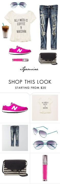 """""""2.24.16"""" by igamine ❤ liked on Polyvore featuring New Balance, Aerie, American Eagle Outfitters, Lilly Pulitzer, Kate Spade and Urban Decay"""
