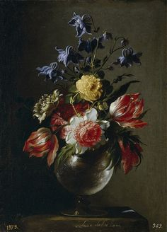Juan de Arellano (1614-1676) –– Flower in Glass Vase ,   1670 (800x1115)