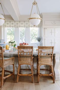 Photo by Julie Lampe, Interior Designer on April Image may contain: people sitting, table and indoor via Brown Kitchens, Home Kitchens, Cottage Kitchens, Rattan Bar, Rattan Chairs, Kitchen Design, Kitchen Decor, Kitchen Ideas, Home Interior