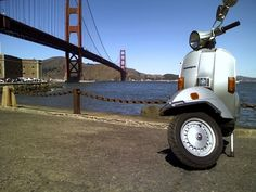 Vespa Golden Gate Bridge #ridecolorfully