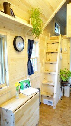 Genius loft stair for tiny house ideas (38)