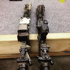 My two @rebelarmscorp rigs done . With @unitytactical fusion mounts diverse optics because the more you know . @griffin_armament brakes buis by magpul and KAC . @surefirelights scout lights with switches . Topped off with the Dbal I2 and dbal a2 lasers are a good training tool as well as use with NVGs . #rebelarmscorp #rebelbase #unitytactical #unity #griffinarmament #griffinarmy #eotech #aimpoint #surefire #dbal kac Magpul #hiperfire ##