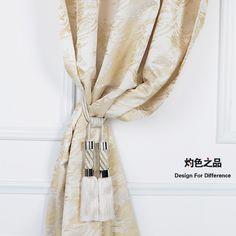 简约样板房软装落地窗飘窗平面窗定制成品窗帘遮光窗帘布平帷绸缎-淘宝网