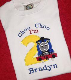 Thomas The Train Birthday Shirt Applique Embroidery