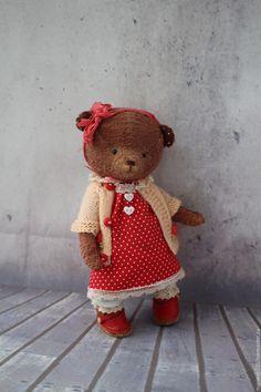 Купить Маруся - коричневый, мишка, мишка тедди, мишка ручной работы, винтаж, коллекционные игрушки