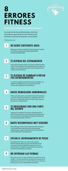 Estos son los errores fitness mas comunes. Debes estar atento a no cometerlos ya…