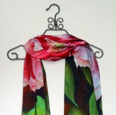A personal favorite from my Etsy shop https://www.etsy.com/listing/294111421/peony-silk-satin-scarf-wedding-gift-for