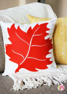 {Fall Leaf Pillows} can't believe how simple this was, and with such a big impact too!