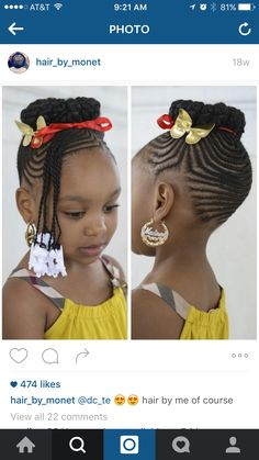 Bamboo earrings and hairstyle for Dani!!!