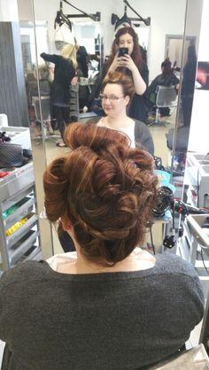 Hair up by Danielle covington