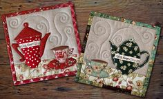 cute mug rugs good idea for the quilting
