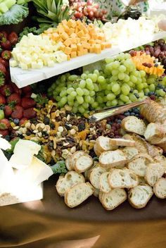 A bountiful fruit and cheese ...now just add some gourmet chocolates Chocolates and Cheeses and Fruits, oh my!