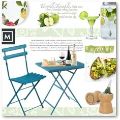 A fashion look from June 2016 by edy321 featuring WallPops, Kate Spade, Sur La Table, Envi, summeroutdoordining e mobilificiomarchese