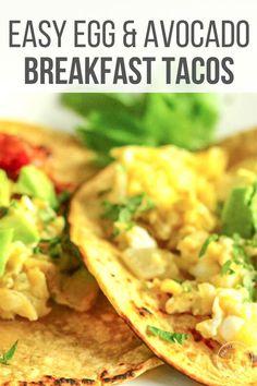 Avacado Breakfast, Breakfast Tacos, Breakfast Bread Recipes, Easy Brunch Recipes, Cooking Videos Tasty, Cooking Recipes, Bean Recipes, Vegetarian Recipes, Easy Fish Tacos