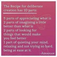 Deliberate creation process❤️☀️Abraham