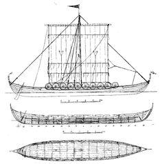 Quinze marins sur le bahut du mort...: Plan Drakkar Bateau Viking